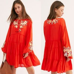 NWT Free People Spell On Your Embroidered Mini Dre